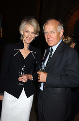 Writer JOANNA TROLLOPE and GENERAL SIR PETER DE LA BILLIERE at the opening of the exhibition 'Lawrence of Arabia: The Life, The Legend' at the Imperial War Museum, Lambeth Road, London SE1 on 11th October 2005.<br />
