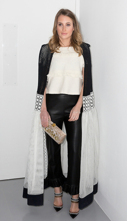 Rosie Fortescue on the front row during the Bora Aksu Autumn/Winter 2017 London Fashion Week show at BFC Show Space, London. PRESS ASSOCIATION. Picture date: Friday February 17, 2017. Photo credit should read: Isabel Infantes/PA Wire