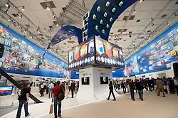 Samsung display stand at IFA consumer electronics trade fair in Berlin Germany 2011