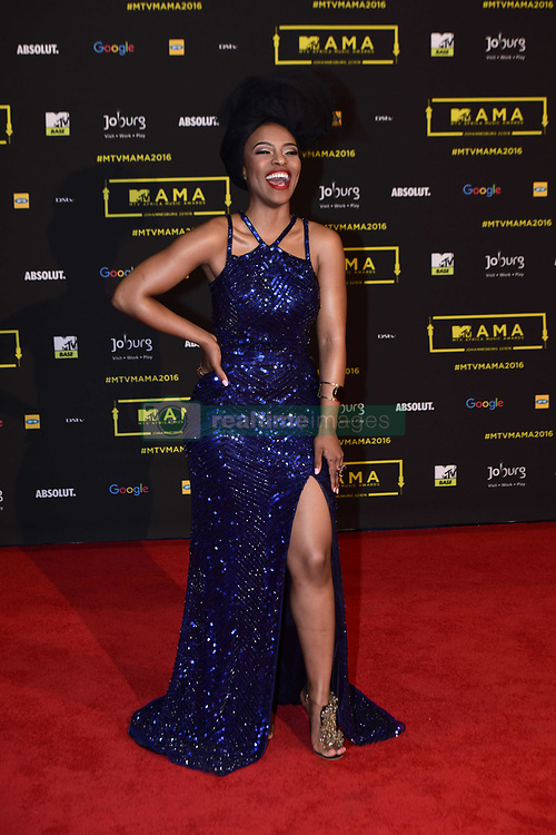 October 22, 2016 - Johannesburg, Gauteng, South Africa - Nomzamo Mbatha during the MTV Africa Music Awards (MAMAS) held at the Ticketpro Dome in Johannesburg on the 22nd of October 2016..Photo by: Jurgen Marx/RealTime Images (Credit Image: © Jurgen Marx/RealTime via ZUMA Press)