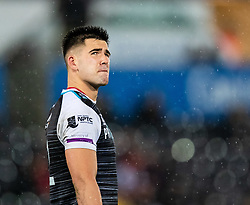 Tiaan Thomas-Wheeler of Ospreys<br /> <br /> Photographer Simon King/Replay Images<br /> <br /> Guinness PRO14 Round 6 - Ospreys v Connacht - Saturday 2nd November 2019 - Liberty Stadium - Swansea<br /> <br /> World Copyright © Replay Images . All rights reserved. info@replayimages.co.uk - http://replayimages.co.uk