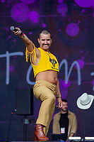 Tom Aspaul at Birmingham Pride Birmingham West Midlands  United Kingdom 2021 photo by Chris Waynne