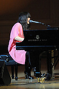 Rachel Yamagata performs at The Music of R.E.M. at Carnegie Hall, a tribute concert to benefit musical education programs for underprivileged youth.