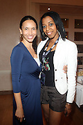24 June 2010- Miami Beach, Florida- l to r: Melanie Sharee and Julie Griffth at the The 2010 American Black Film Festival Founder's Brunch held at Emeril's on June 24, 2010. Photo Credit: Terrence Jennings/Sipa