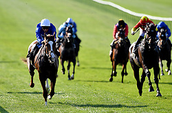 Nordic Lights (left) ridden by jockey William Buick wins the British EBF bet365 'Confined' Novice Stakes during day three of The Bet365 Craven Meeting at Newmarket Racecourse.