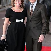 NLD/Amsterdam/20080201 - Verjaardagsfeest Koninging Beatrix en prinses Margriet, aankomst prins Bernhard Jr. en zwangere prinses Annet Sekreve