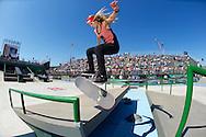 Leticia Bufoni during Women's Skateboard Street Finals at the 2013 X Games Foz do Iguacu in Foz do Iguaçu, Brazil. ©Brett Wilhelm/ESPN