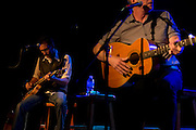 Guitarist Sam Hawksley and Rick Price performing with the Little Rippers in Nashville, TN.