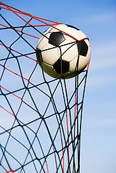 Dec. 05, 2012 - Football in goal (Credit Image: © Image Source/ZUMAPRESS.com)