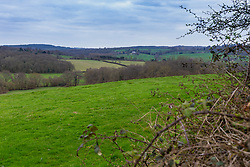 The rolling hills of the Kent countryside surround a dogging spot - a place where people meet to have sex with strangers, just off the A26 at Eridge near Tonbridge Wells in Kent. PLACE, March 27 2019.