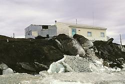 Ice On Arctic Ocean Cliffs