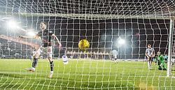 Falkirk's Bob McHugh cele Falkirk's Myles Hippolyte scoring the third goal. Falkirk 3 v 1 St Mirren, Scottish Championship game played 3/12/2016 at The Falkirk Stadium .