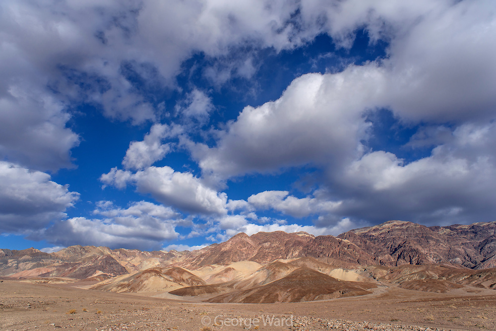 Afternoon Clouds Over the Black Mountains, Death Valley National Park, California