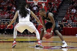 20 March 2017:  Tony Wills(12) defends Matt Williams during a College NIT (National Invitational Tournament) 2nd round mens basketball game between the UCF (University of Central Florida) Knights and Illinois State Redbirds in  Redbird Arena, Normal IL