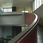 Paris, France, 2004: Interior view of the Exhibition Room, Maison La Roche Jeanneret (1923) at 8-10 square Doctor Blanche - Le Corbusier arch - . Photographs by Alejandro Sala,(Historical archivi AS)