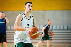 during Practice session of Slovenian National basketball team before FIBA Basketball World Cup China 2019 Qualifications against Belarus, on November 20, 2017 in Arena Stozice, Ljubljana, Slovenia. Photo by Vid Ponikvar / Sportida