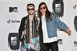 November 4, 2018 - Bilbao, Bizkaia, Spanien - Sebastian Pringle und Gilbert Vierich von Crystal Fighters bei der Verleihung der MTV European Music Awards 2018 in der Bizkaia Arena. Bilbao, 04.11.2018 (Credit Image: © Future-Image via ZUMA Press)