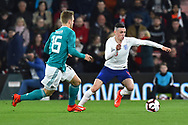 Phil Foden of England U21's on the attack during the U21 International match between England and Germany at the Vitality Stadium, Bournemouth, England on 26 March 2019.