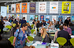© Licensed to London News Pictures. 14/03/2017. LONDON, UK.  London Book Fair. In this picture: Hachette Publishing stand.  Photo credit: Cliff Hide/LNP