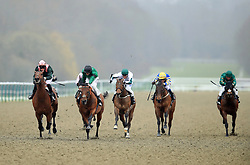 City Light (left) ridden by Theo Bachelor wins the Betway All-Weather Sprint Championships Conditions Stakes during the AW Championship Finals Day at Lingfield Racecourse.