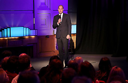 The Duke of Cambridge speaks at Old Broadcasting House in London during the screening of the BBC's documentary 'Mind over Marathon'.