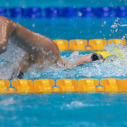 TOKYO, JAPAN - JULY 25: Meg Harris of Australia swims  the second leg for the Australian team in the 4 x 100m Freestyle Relay for women during their gold medal world record performance at the Swimming Finals at the Tokyo Aquatic Centre at the Tokyo 2020 Summer Olympic Games on July 25, 2021 in Tokyo, Japan. (Photo by Tim Clayton/Corbis via Getty Images)
