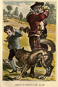Rescue of Harry's Lamb From the Book ' The history of Sandford and Merton ' by Thomas Day, 1748-1789; with original illustrations printed in colours by Edward and George Dalziel,