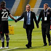 Kasimpasa SK's coach Zeki Onder Ozen (C) during their Turkish Superleague soccer match Kasimpasa SK between Besiktas at the Recep Tayyip Erdogan stadium in Istanbul Turkey on Saturday 18 April 2015. Photo by Aykut AKICI/TURKPIX
