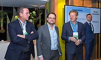 BUSSUM -  Jeroen Stevens (NGF) , Dirk Jan Vink (NVG) en Lodewijk Klootwijk (NVG)    Nationaal Golf Congres & Beurs. COPYRIGHT KOEN SUYK
