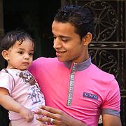Father and child in Qarafa, Cairo.