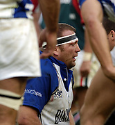 Leicester, England UK., 9th October 2004,  Zurich Premiership Rugby, Leicester Tigers vs Bath Rugby, Welford Road,<br /> [Mandatory Credit: Peter Spurrier/Intersport Images],<br /> Baths caption and hooker Jonathan Humphreys.