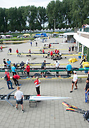 Amsterdam. NETHERLANDS.  General Views of crews rigging their boat after arriving at the venue, for the 2014 FISA  World Rowing. Championships.  De Bosbaan Rowing Course . 15:59:18  Wednesday  20/08/2014  [Mandatory Credit; Peter Spurrier/Intersport-images]