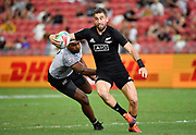 New Zealand's Kurt Baker during the HSBC Singapore Rugby Sevens Cup Quarter Final - New Zealand v Fiji at The National Stadium, Singapore, Sunday, April 14th, 2019. (Steve Flynn/Image of Sport)
