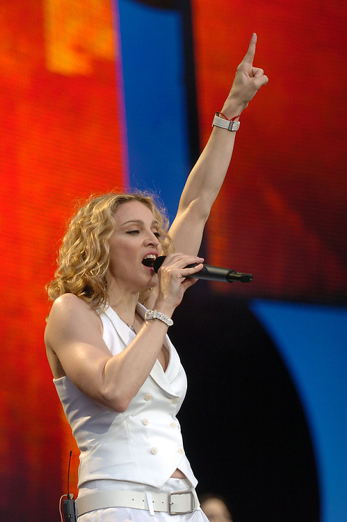 Live 8 Concert Madonna  Pix By Dave Nelson