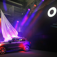 The 01 car during its launch in Gothenburg Sweden.China's Geely, owner of Volvo Cars and London Taxi Company, launch a new brand LYNK & CO to the world's media - with the 'world's most connected car'.  Pictured is the company's first model - the 01, designed by Brit, Peter Horbury.Photograph David Cheskin.19.10.2016