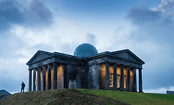 Edinburgh, Scotland, UK. 20 November, 2018. The historic City Observatory on Calton Hill will reopen as The Collective, an arts development organisation and will feature the restored City Observatory, City Dome, and a purpose-built exhibition space as well as The Lookout , a new restaurant. It opens to the public on 24 November, 2018. ++ Editorial Use Only ++