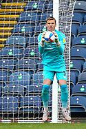 Blackburn Rovers goalkeeper Thomas Kaminski (1) during the EFL Sky Bet Championship match between Blackburn Rovers and Birmingham City at Ewood Park, Blackburn, England on 8 May 2021.