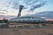 Architecture Photography Montreal: Olympic Stadium at sunset