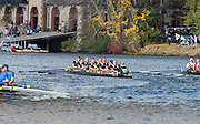"Cambridge. Mass, USA. GV. General View. Senior Master Men's Eights 50+. approaching 'Weeks Bridge"". 2014 Head of the Charles Regatta. Charles River. Boston. 10:27:32  Saturday  18/10/2014.  [Mandatory Credit; Peter Spurrier/Intersport-images]<br /> <br /> Crew: 8: Richard Stanhope, 7: Ian McNuff , 6: Matthew Pinsent, 5: Steven Redgrave, 4: Clive Roberts, 3: Martin Cross, 2: Joe Michels, 1: Graham Smith, cox: Garry Herbert 2014. HOCR, 50 Years, anniversary"