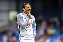 Pedro of Chelsea smiles during the warm up at Selhurst park - Mandatory by-line: Jason Brown/JMP - 14/10/2017 - FOOTBALL - Selhurst Park - London, England - Crystal Palace v Chelsea - Premier League