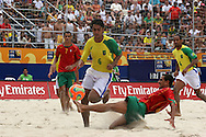 Footbal-FIFA Beach Soccer World Cup 2006 -  Semi Final- BRA xPOR -Bruno and Gustavo-Rio de Janeiro- Brazil - 11/11/2006.<br />Mandatory Credit: FIFA/Ricardo Ayres