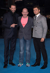 """Eddie """"The Eagle"""" Edwards Hugh Jackman and Taron Egerton attends the European premiere for """"Eddie the Eagle at Odeon Leicester Square in London, 17.03.2016. EXPA Pictures © 2016, PhotoCredit: EXPA/ Photoshot/ Euan Cherry<br /> <br /> *****ATTENTION - for AUT, SLO, CRO, SRB, BIH, MAZ, SUI only*****"""