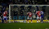 Photo: Steve Bond/Sportsbeat Images.<br /> Leicester City v Charlton Athletic. Coca Cola Championship. 29/12/2007. Stephen Clemence scores, despite keeper Nicky Weaver's despairing dive