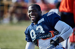 July 28, 2018 - Bourbonnais, IL, U.S. - BOURBONNAIS, IL - JULY 28: Chicago Bears linebacker Sam Acho (93) participates in drills during the Chicago Bears training camp on July 28, 2018 at Olivet Nazarene University in Bourbonnais, Illinois. (Photo by Robin Alam/Icon Sportswire) (Credit Image: © Robin Alam/Icon SMI via ZUMA Press)
