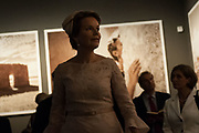 Queen Mathilde of Belgium visits the 57 International Art Biennale in Venice on September 8, 2017 in Venice, Italy. ©Simone Padovani