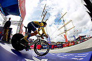 Start, Time Trial Men 45,7 km, Oleksandr Gonovalovas (Ukraine) during the Road Cycling European Championships Glasgow 2018, in Glasgow City Centre and metropolitan areas Great Britain, Day 7, on August 8, 2018 - photo Luca Bettini / BettiniPhoto / ProSportsImages / DPPI<br /> - restriction - Netherlands out, Belgium out, Spain out, Italy out