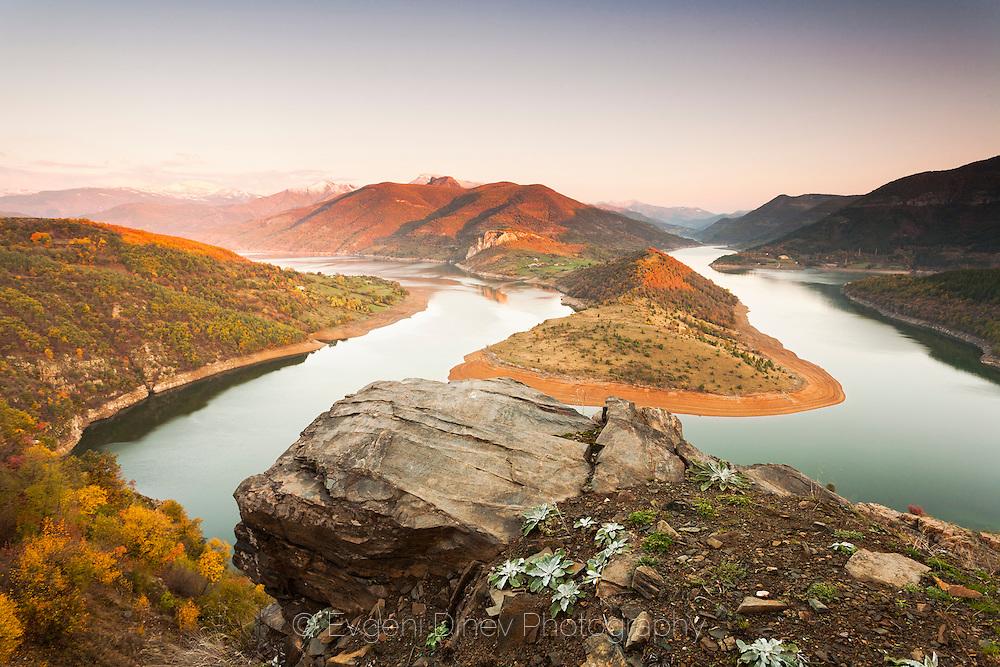 Kardzhali lake in Rhodope Mountains in autumn
