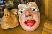 Hand carving of wooden masks is an old tradition in Sauris, Carnia, Italy.
