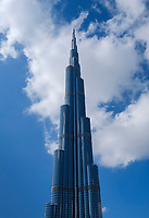 UNITED ARAB EMIRATES, DUBAI - CIRCA JANUARY 2017: Burj Khalifa in downtown Dubai.