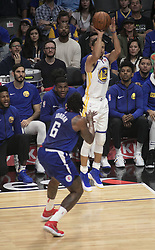 January 6, 2018 - Los Angeles, California, U.S - Stephen Curry #30 of the Golden State Warriors takes a jump shot during their NBA game with the Los Angeles Clippers on Saturday January 6, 2018 at the Staples Center in Los Angeles, California. Clippers vs Warriors. (Credit Image: © Prensa Internacional via ZUMA Wire)